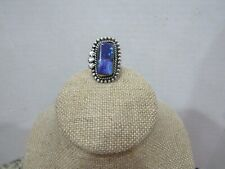 Size 8 Purple Blue Stone (E) Southwestern Kay Johnson Anglo Sterling Silver Ring