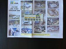 DECALS 1/24 PEUGEOT 206 WRC GRONHOLM RALLYE ESPAGNE CATALOGNE 2000 RALLY TAMIYA