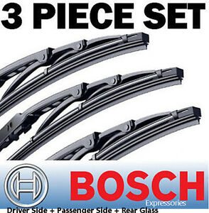 "Bosch Direct Connect 19"" 19"" 13"" Wiper Blades Complete Set ""OEM"" Quality (3 pcs)"