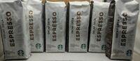 Case of 6 Starbucks Decaf Espresso Whole Bean Coffee Dark Roast BBD Jul 2020