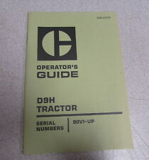 Caterpillar Cat D9H Tractor Operator's Guide Manual SEBU522B 90V1 1974