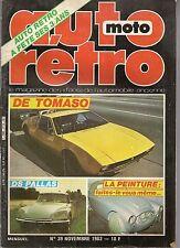 AUTO RETRO 39 DE TOMASO MANGUSTA DS PALLAS DS 21 DS 23 PEUGEOT 202 VOIT A PEDALE