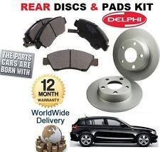 FOR BMW 1 SERIE 118 120 E81 2007-12 REAR BRAKE DISCS SET & DISC PAD KIT & SENSOR