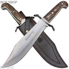 Puma IP Bowie cuchillo caza 420er acero hirschhorn cachas con lederscheide