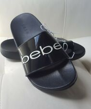 NWT BEBE JET  SET  LOGO Sandals SIZE  7  bebe logo 😉 shoes