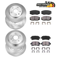 Front+Rear OE Disc Brake Rotors & Ceramic Pads For Regal Chevy Malibu 9-5