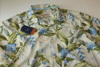 Tommy Bahama Camp Shirt Briga Blooms Cloud Cream T315738 New Silk Medium M