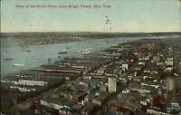 New York City The North River From Singer Tower c1910 Postcard