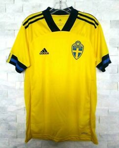 adidas 2020-21 SWEDEN HOME JERSEY (FH7620) YELLOW-NAVY