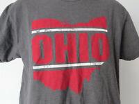 GRAY OHIO Men's TEE SHIRT Medium M Med Buckeye State Symbol