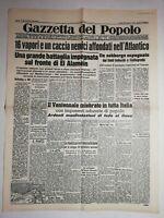 N1126 La Une Du Journal Gazetta del popolo 26 octobre 1942 Battaglia impegnata