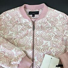 Victoria Beckham for Target Women's Sz Large Blush Floral Jacquard Zip Jacket