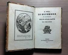 """Libro Antico """"Il mese di Novembre in suffragio delle anime sante del Purgatorio"""