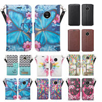 Motorola Moto E4 Case, Magnetic Flip[Kickstand/Card Slots] Wallet Cover Clutch