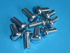 """1/4"""" BSF x 5/8"""" Steel Slotted Panhead Bright Zinc Plated"""