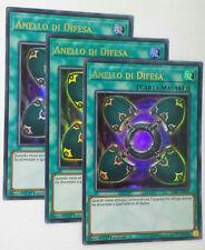 Set 3X  ANELLO DI DIFESA   LCKC-IT033 Ultra Rara in Italiano YUGIOH