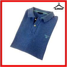 GANT Mens Polo Shirt Blue S Small Cotton Regular Fit Short Sleeve