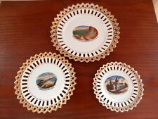 3 antique souvenir German made plates, Reading, Pa., Atlantic City and Wildwood