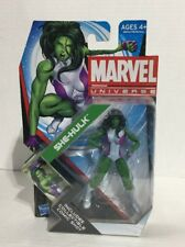 "Marvel Universe She-Hulk 4"" Action Figure 2011 Hasbro MOC 1/18th Avengers Hulk"