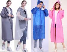 Adult Unisex Rain Waterproof EVA Hooded Coat Raincoat Poncho Outwear Lightweight
