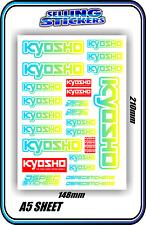 KYOSHO MODEL RC CAR DRONE BOAT BUGGY MINI Z STICKERS DECALS ROBOT R/C BLU/YEL W
