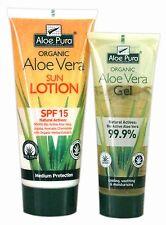 Aloe Pura Aloe Vera Ecológica Loción Solar SPF15 200ml+ Gel Aloe Vera 100ml