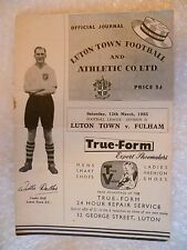 1955 Luton Town V Fulham, 12th MARZO (LEAGUE Division 2)