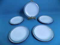 Denby Jet Grey Side Plates x 5