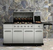Gas Grill 6 Burner Stainless Steel Outdoor Backyard Patio Island Storage BBQ