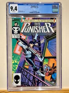 Punisher #1 1987  CGC 9.4 White Pages Fresh Perfect Case! Pre-Slab Photos!