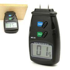 Digital 2 Pin Wood Cotton Tobacco Paper Moisture Meter Damp Tester Detector