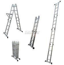 4.75M Multi Purpose Aluminium Extension Ladder Platform Step With Tool Tray New