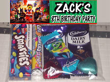 12 Personalised Party Lolly / Loot Bags with The Lego Movie print