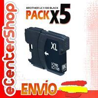 5 Cartuchos de Tinta Negra LC1100 NON-OEM Brother MFC-6490CW / MFC6490CW