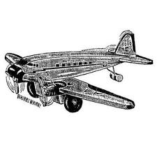 Jet Plane... unmounted rubber stamp, aviation, flying, airplane - Heart & Soul