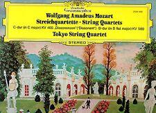 AMADEUS MOZART TOKYO STRING QUARTET disco LP 33 giri STRING QUARTETS Deutsche