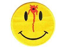 """(B52) SHOT SMILEY FACE 3"""" x 3"""" iron on patch (1526) Biker vest hat cap"""
