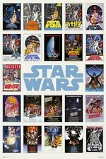 24x36 Star Wars Famous Posters on one Poster rolled shrink wrapped
