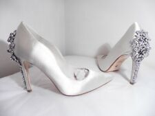 "Dune ""Be Wedd"" Pale Ivory Satin Diamante & Pearl Bridal Shoes Size 3 NEW £250"