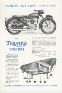 Triumph Twin Seat Flyer original  new old stock Sprung Hub Motorcycles