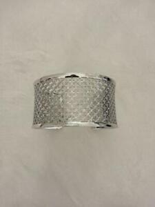 Birks Muse Pattern Sterling Silver Cuff Bracelet