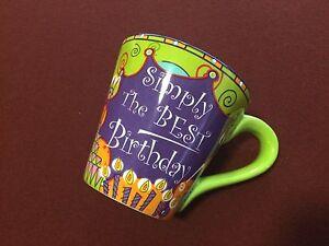 """Simply The Best"" Birthday Coffee Mug 14 oz"