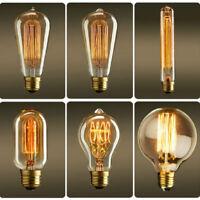 Retro Edison E27 40W Filament Light Bulb ST64 Globe Lamp Vintage Bright NEW