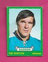 1973-74 OPC # 189 SABRES TIM HORTON GOOD CARD (INV# C7197)