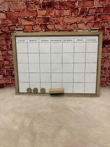Pottery Barn Daily Wall System Whiteboard Calendar Livingston Gray