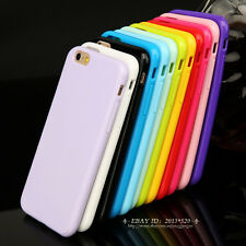 Ultra Thin Slim Rubber Soft TPU Gel Back Case Cover for Apple iPhone 5 6 6s Plus