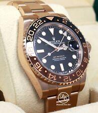 Rolex GMT-MASTER II 126715 ROOT BEER 18K Rose Gold Ceramic Watch B/PAPER *UNWORN