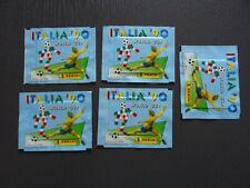 5 BUSTINE POCHETTE CALCIATORI PANINI ITALIA 90 PIENE SIGILLATE FULL WORLD CUP