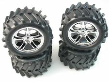 NEW E-MAXX 16.8V WHEELS TIRES 3.8 14MM SAVAGE T-MAXX 5173