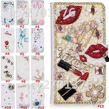 Magnetic Bling Luxury Diamonds Crystal  Leather wallet flip Slots Cover Case AU6